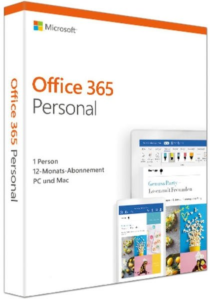 Microsoft Office 365 Personal (1 User) (DE) (Box)