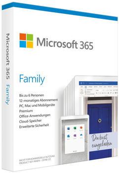 Microsoft 365 Family 6 Nutzer ESD DE