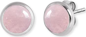 Engelsrufer Ohrstecker Powerful Stone Rosenquarz Silber (ERE-RQ-ST)