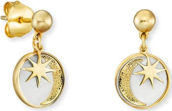 Engelsrufer Sonne, Mond & Stern Ohrstecker gold