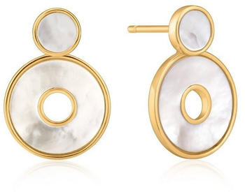 Ania Haie Mother Of Pearl Disc Ear Jackets gold