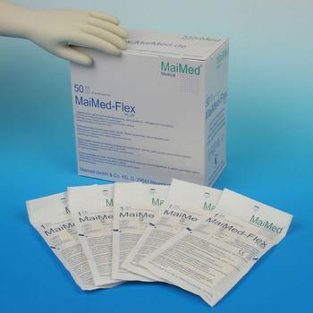 MaiMed Flex Plus OP-Latexhandschuhe puderfrei Gr. 6 (50 x 2 Stk.)