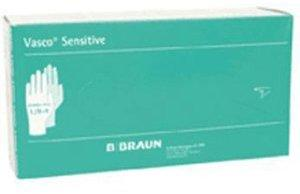 B. Braun Vasco Sensitive Latex-Untersuchungshandschuhe puderfrei Gr. M (100 Stk.)