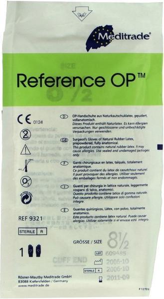 Dr. Junghans Medical Latex OP-Handschuhe gepudert Gr. 8,5 (1 x 2 Stk.)