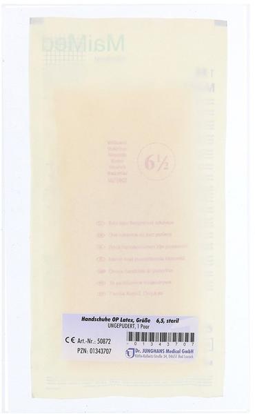 Dr. Junghans Medical Latex OP-Handschuhe puderfrei Gr. 6,5 (1 x 2 Stk.)