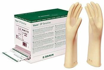 B. Braun Vasco Sensitive OP-Latexhandschuhe puderfrei Gr. 7 (40 x 2 Stk.)