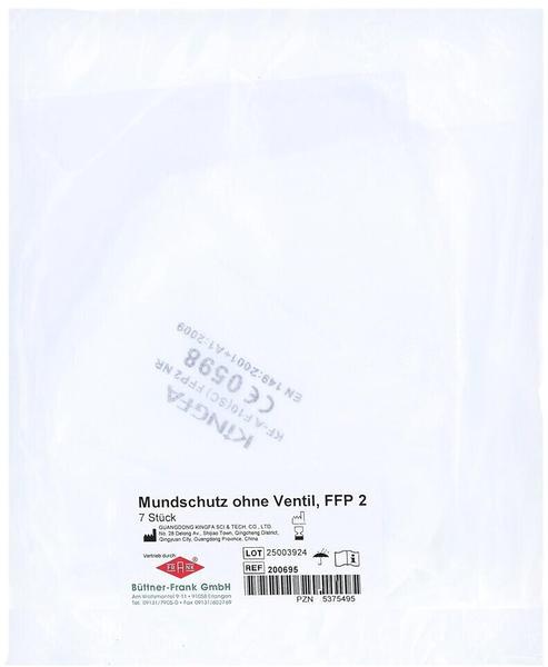 Büttner-Frank Mundschutz O.ventil Ffp2