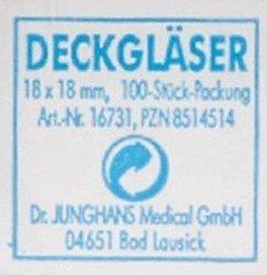Dr. Junghans Medical Deckgläser 18 x 18 mm (100 Stk.)