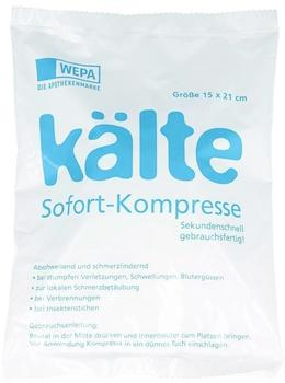 Wepa Kälte Sofort Kompresse 15 x 21 cm