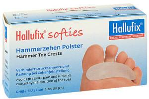 Hallufix Softies Hammerzehen Polster Gr. L 42-46 (2 Stk.)