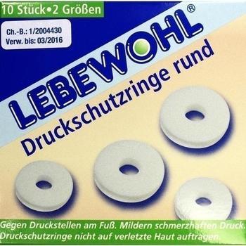 Lebewohl Druckschutzringe Rund (10 Stk.)