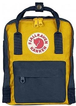 fjaellraeven-kanken-mini-7-navy-warm-yellow