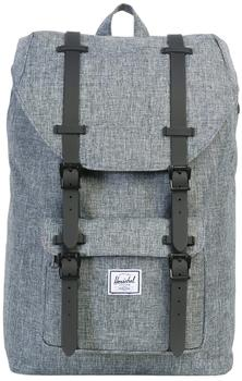 Herschel Little America Backpack Mid-Volume black crosshatch/black