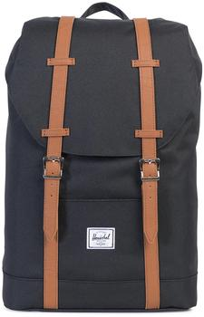 Herschel Retreat Mid-Volume Backpack black/tan 00001