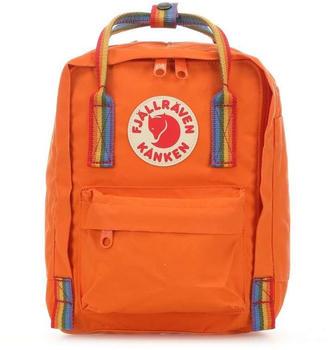 fjaellraeven-kanken-rainbow-mini-burnt-orange-rainbow-pattern