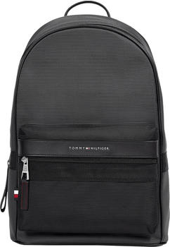 tommy-hilfiger-textured-finish-metal-logo-backpack-black