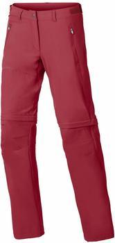 Vaude VAUDE Womens Farley Stretch ZO T-Zip Pants red cluster