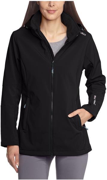 CMP Woman Softshell Jacket Zip Hood (3A22226) Nero