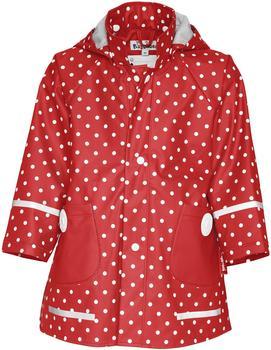 Playshoes Regen-Mantel Punkte rot