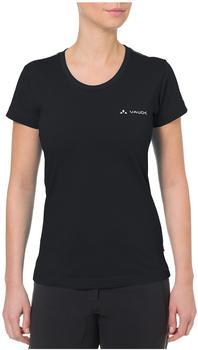 VAUDE Women's Brand Short Sleeve Shirt black