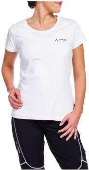 VAUDE Women's Brand Short Sleeve Shirt white