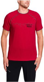 Vaude Men's Skomer Print Shirt indian red