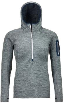 ORTOVOX Fleece Light Melange Zip Neck W grey blend