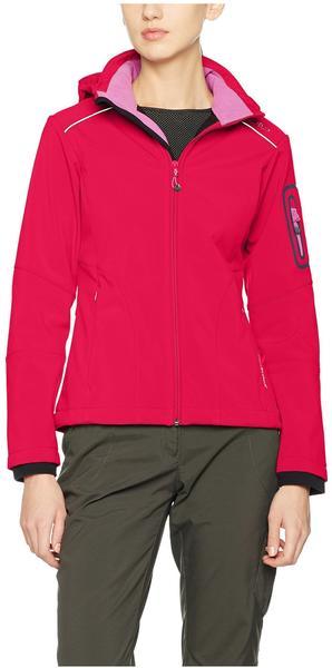 CMP Women Softshell Jacket Zip Hood (3A05396) ibisco rose