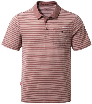 Craghoppers NosiLife Gilles Short Sleeved Polo grau/rot