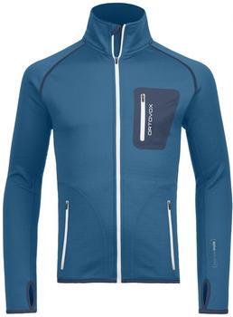 ORTOVOX Merino Fleece Jacket Men blue sea