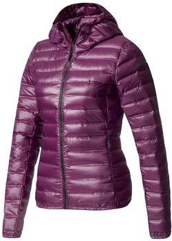 Adidas Terrex Lite Down Hooded Jacket Women red night