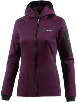Adidas Terrex Stockhorn Fleece Hooded Women red night