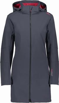 CMP Women Softshell Coat Zip Hood (3A08326) asphalt/magenta