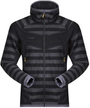 Bergans Hollvin Wool Men Jacket solid charcoal/dark grey striped