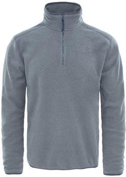The North Face Men's 100 Glacier 1/4 Zip Pullover Fleece tnf medium grey heather/high risk grey