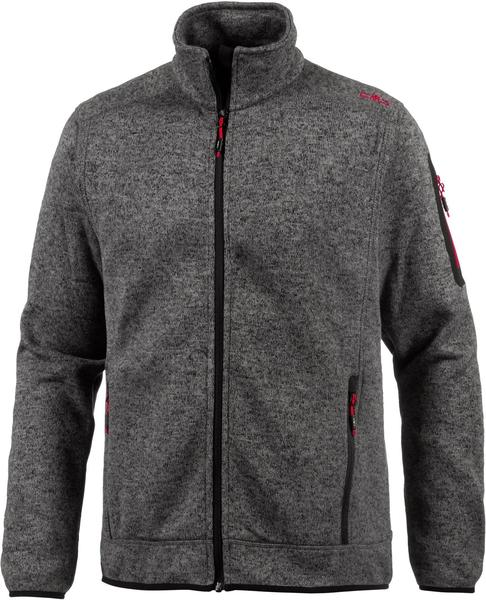 CMP Men Fleece Jacket (3H60747N-19AG) tortora-nero