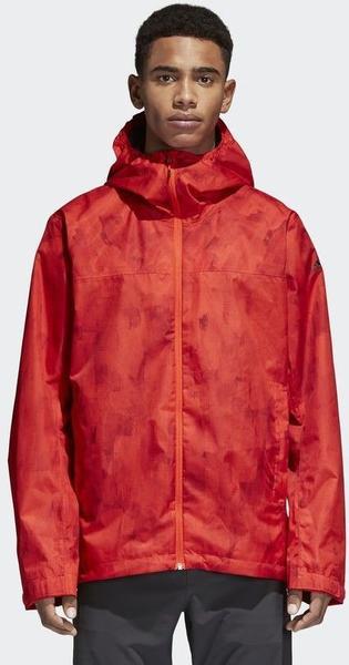 Adidas Wandertag Allover Print Jacke hi-res red