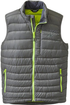 Outdoor Research Transcendent Down Vest pewter/lemongrass