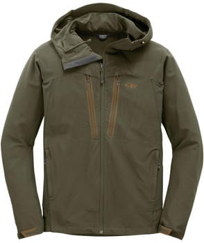 Outdoor Research Men's Ferrosi Summit Hooded Jacket fatigue