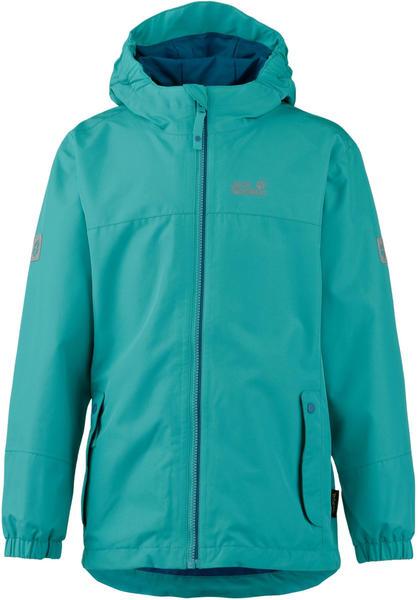 Jack Wolfskin Iceland 3in1 Jacket Girls green