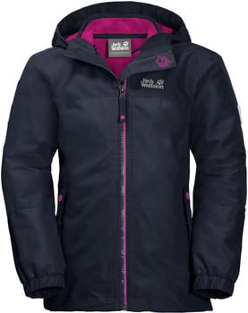 Jack Wolfskin Iceland 3in1 Jacket Girls midnight blue