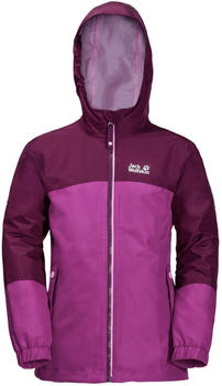 Jack Wolfskin Iceland 3in1 Jacket Girls dark peony