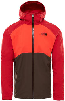 The North Face Herren Stratos Jacke bittersweet brownfiery redrage red