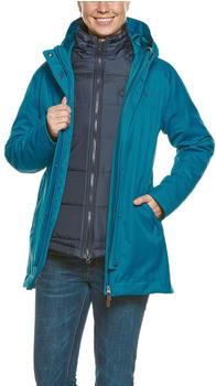 Tatonka Naika 3-In-1 Coat Women teal blue
