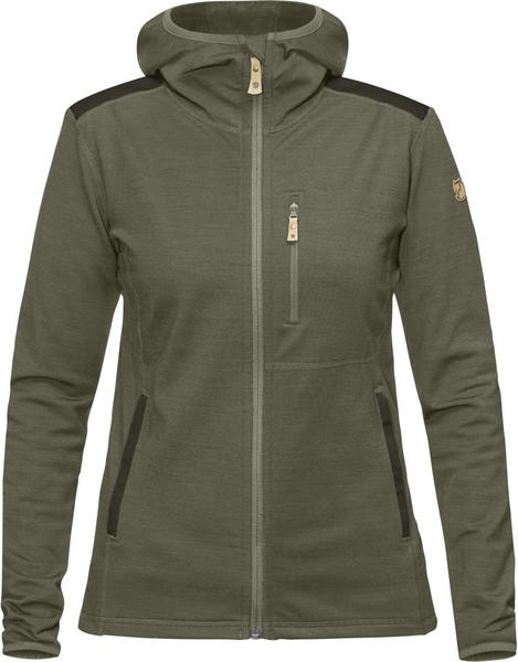 Fjällräven Keb Fleece Hoodie W green/deep forest