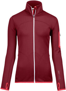 ORTOVOX Merino Fleece Jacket Women dark blood