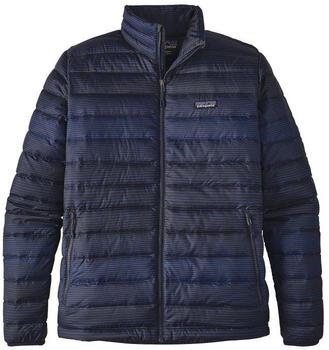 Patagonia Men´s Down Sweater Jacket distressed stripe navy blue