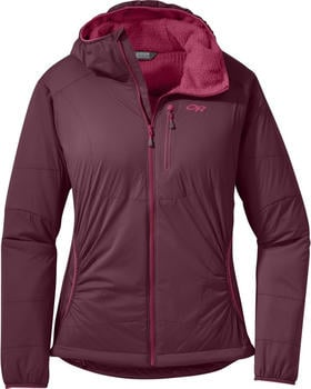 Outdoor Research Ascendant Hoody W pinot/raspberry