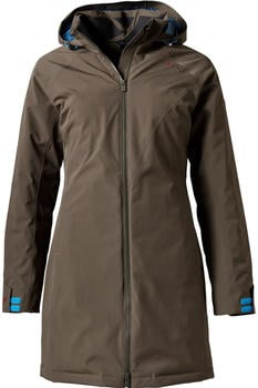 Yeti Raa Hardshell Down Coat deep brown/ensign blue