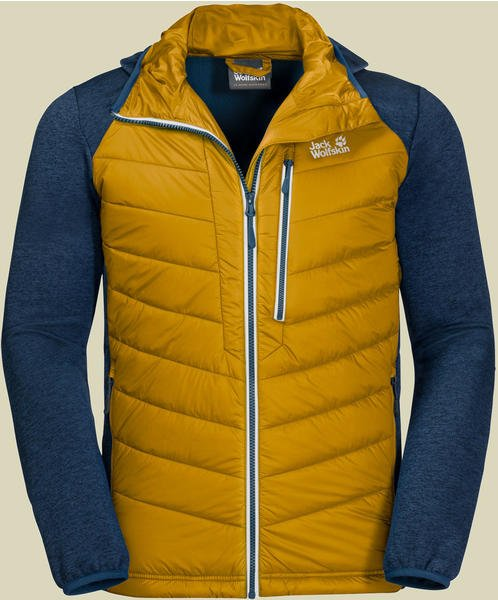 Jack Wolfskin Skyland Crossing Men Hybrid-Jacket black golden yellow